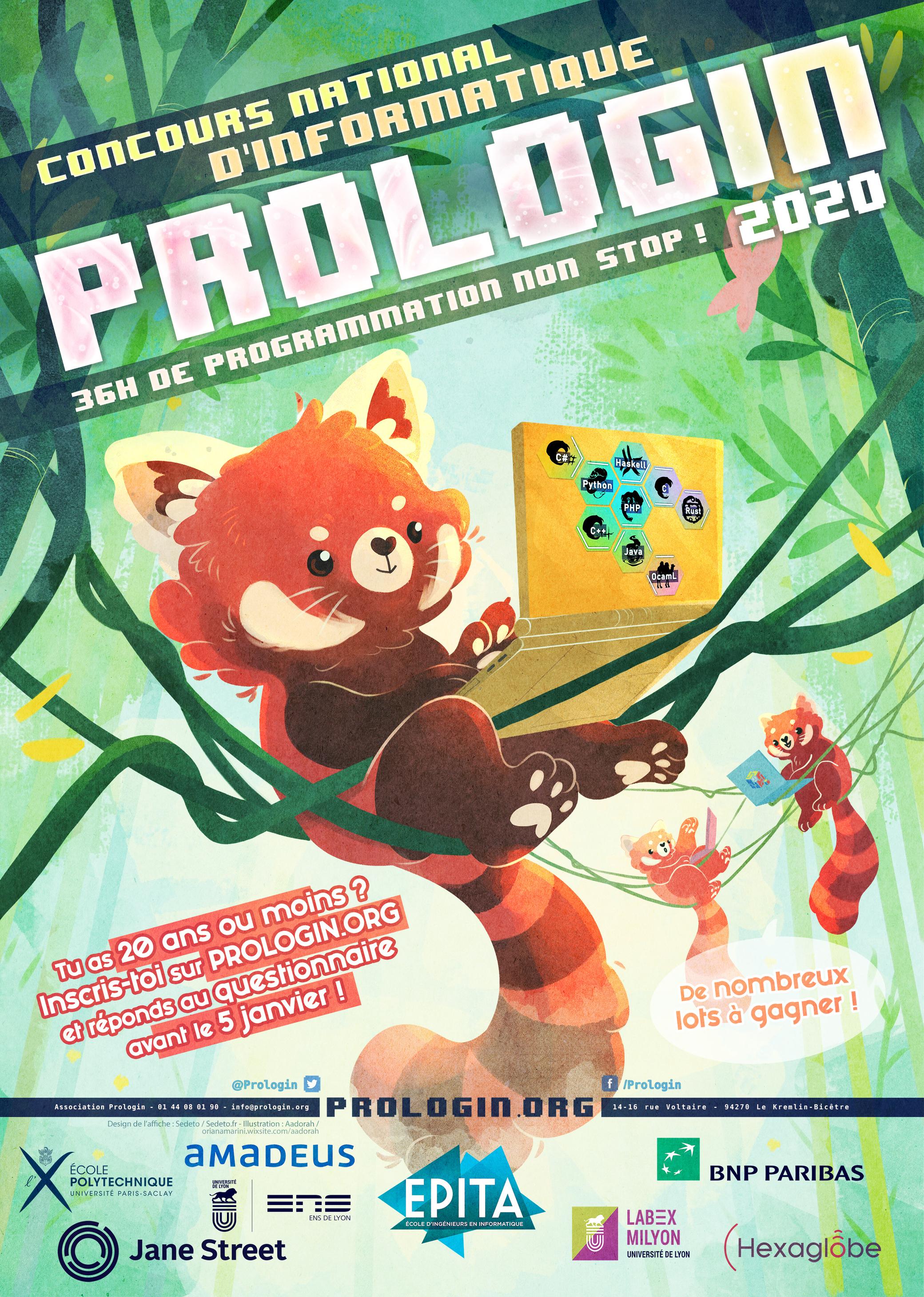 Affiche Prologin 2020